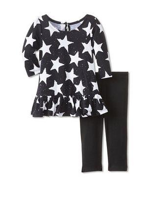 60% OFF Pippa & Julie Baby Star Tunic & Legging Set (Black/White)