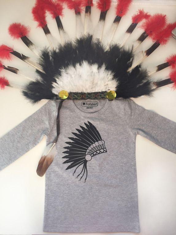 Kinder t-shirt met indianentooi