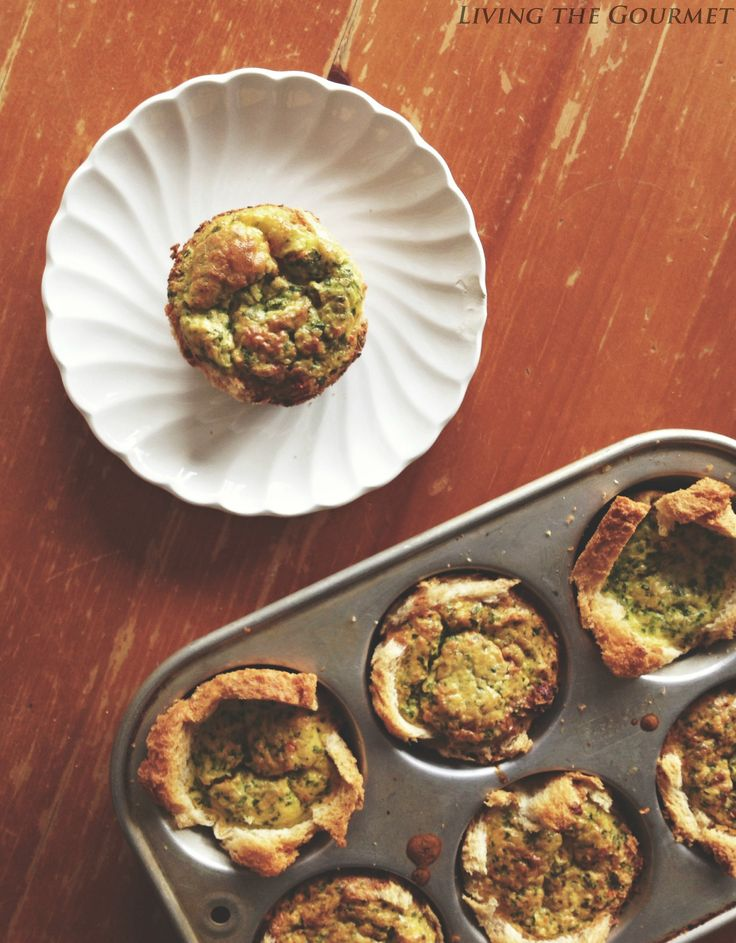 Living the Gourmet: Mini Egg Quiches are a perfect breakfast treat for busy mornings!