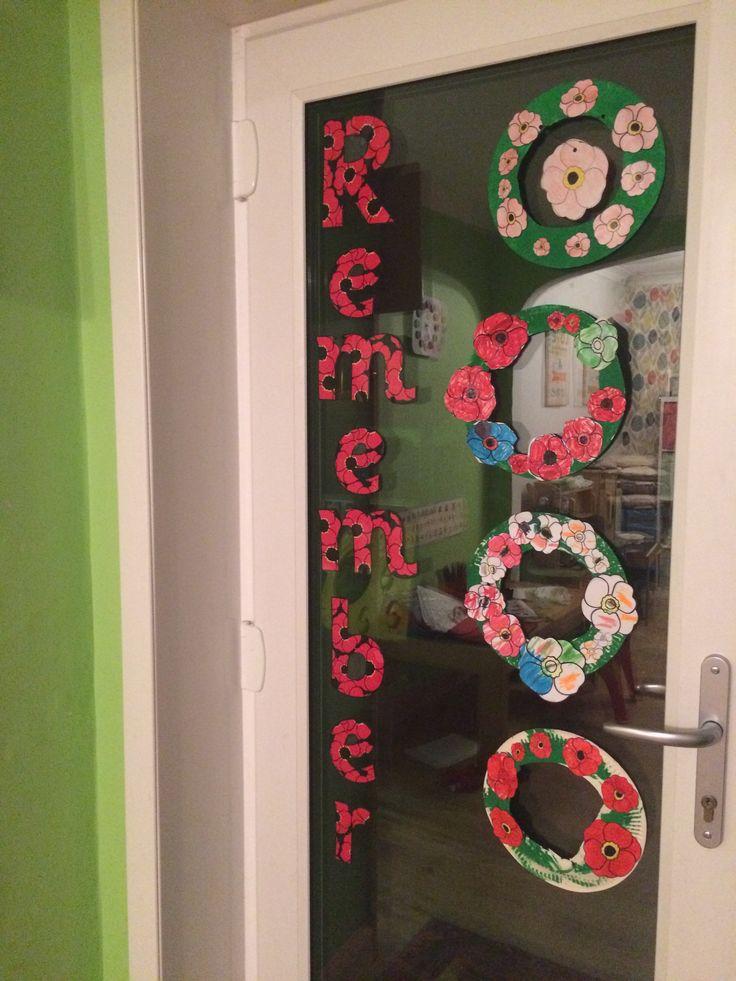 Little Acorns Remembrance display 2016