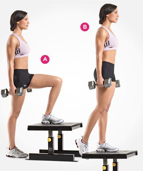 Dumbbell Stepup http://www.womenshealthmag.com/fitness/best-butt-exercises/slide/10