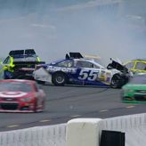 "Yahoo Cars pile up after wreck on late restart RELATED: Play NASCAR Fantasy Live "" Sign up for RaceView today NASCAR.comSports & RecreationMotor RacingBrian VickersNASCARPaul Menard"