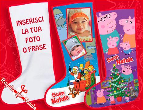 Rendi ancora più speciali le feste con la calza della befana personalizzabile con foto e scritte. Per un regalo unico e speciale!