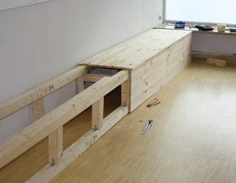 wenn man Stauraum braucht… Stauraum,Kiefer,Sitzmöbel,Holzbank – José Rico