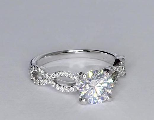 MY DREAM RING!! Infinity Twist Micropave Diamond Engagement Ring in 14K White Gold   Blue Nile #bluenile