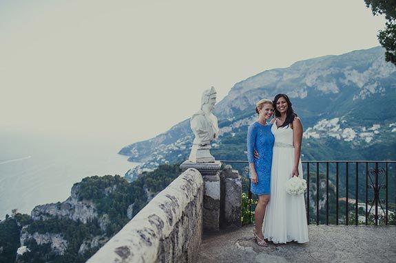 Kirsty and Fergus�s Italian Destination Wedding Belvedere Terrace @ Villa Cimbrone