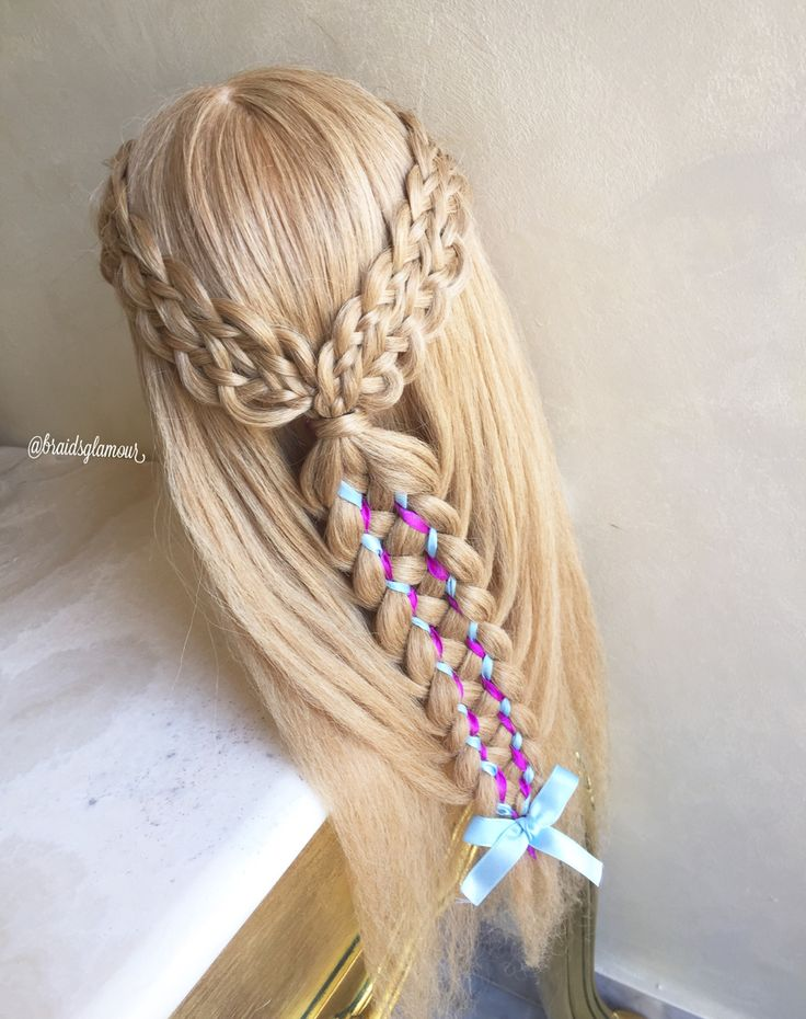 8 Strand Braids Into 9 Strand Dutch Ribbon Braid Hair