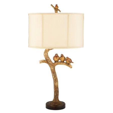 69 best birds lamps and decor images on pinterest table lamps gold finished birds on a branch table lamp mozeypictures Choice Image