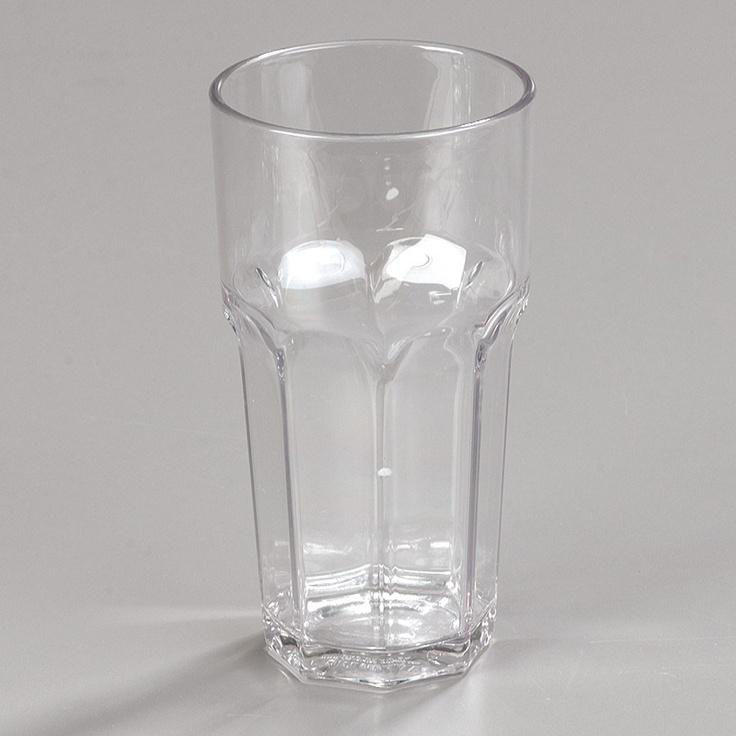 Carlisle Louis 16 oz. Clear Plastic Tumbler - 24 / CS