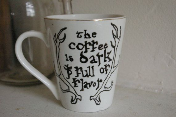 House Baratheon Horns Mug - Game of Thrones Mug - Coffee Pun Mug - Made to Order - Customizeable on Etsy, $12.00