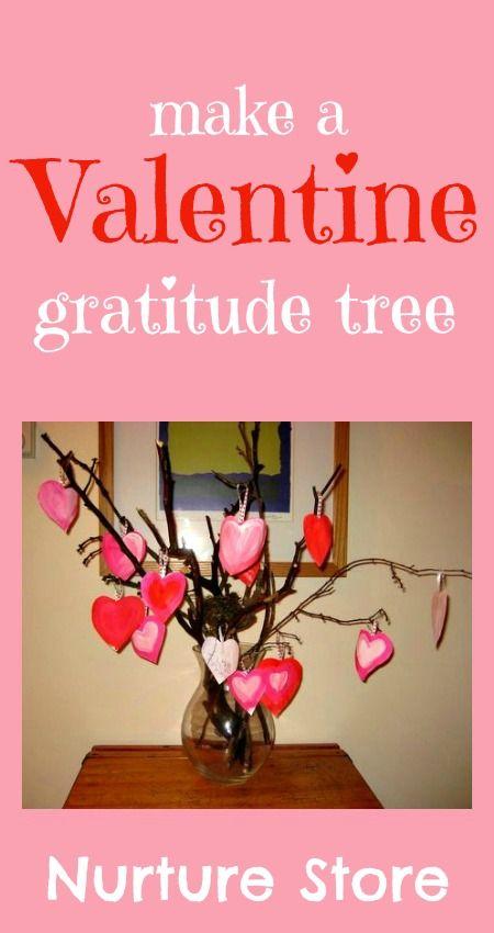 Valentine crafts :: make a Valentine's gratitude tree | NurtureStore :: inspiration for kids