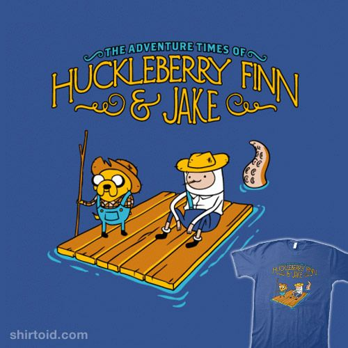 Huckleberry Finn & Jake I think we are reading this book in English class this year so I'll pin it for safe keeping.