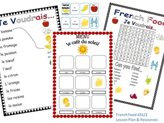 French Food Lesson Plan and Resources KS1/2 by FrenchResourcesByJo