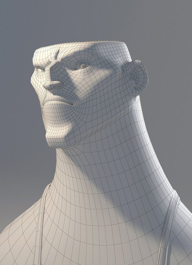 Mustachio'd Man by Rayza_Alvarez - Rayza Alvarez - CGHUB ★ || CHARACTER DESIGN REFERENCES | キャラクターデザイン • Find more artworks at https://www.facebook.com/CharacterDesignReferences & http://www.pinterest.com/characterdesigh and learn how to draw: #3D #rigging #animation #topology #modeling || ★