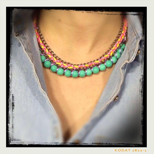 Foto collar de Nanuk Accessoris enviado por una clienta. Complementos originales, hechos a mano y a tu gusto.