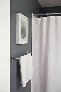 Dark gray bathroom