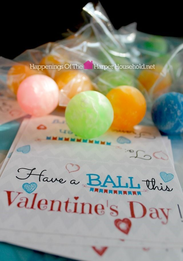 Valentine's Day Bouncy Ball Printable