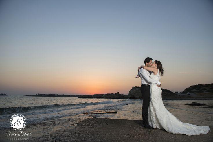 Kosmas and Ioannas sea side photo shooting. Sounio Temple of Poseidon, Greece.