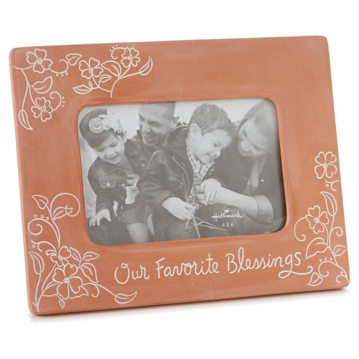 Hallmark Our Favorite Blessings Terra-cotta Picture Frame, 4x6 Picture Frames Birthday...
