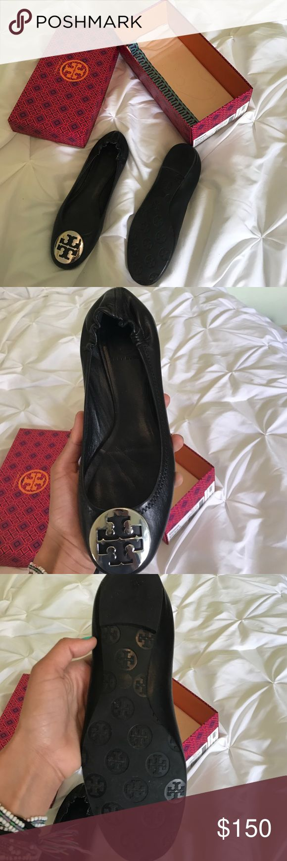 Tory Butch Flats Never worn and I love this shoe! Tory Burch Shoes Flats & Loafers
