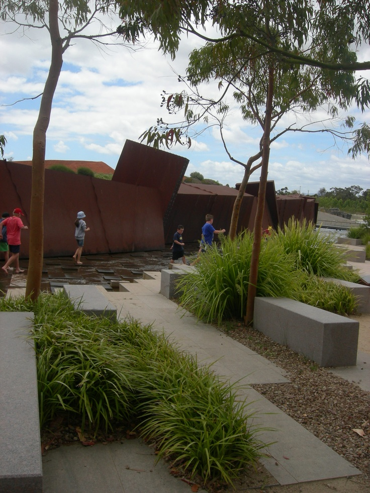 Children playing in the Rockpool Walkway