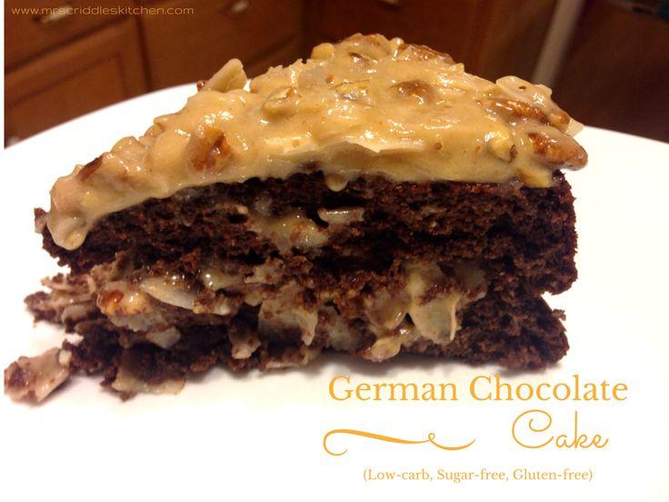 A low-carb, sugar-free German Chocolate Cake that tastes AMAZING!