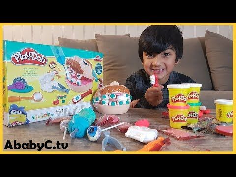 Playdoh Doctor Drill n Fill dental Play set kit Unboxing & DIY Play-doh ...