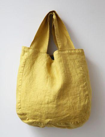 Tote bag, yellow, Lino e Lina:ホームリネン&リネンウェア