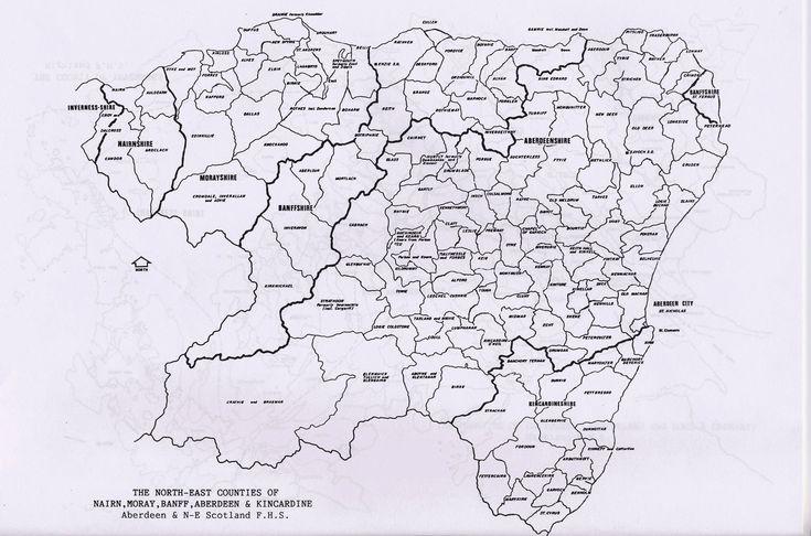 Parish maps of Aberdeen, Banff, Kincardine , Moray and Nairn county from Scotlandsfamily.com - Scottish genealogy portal assisting Scottish ancestor search