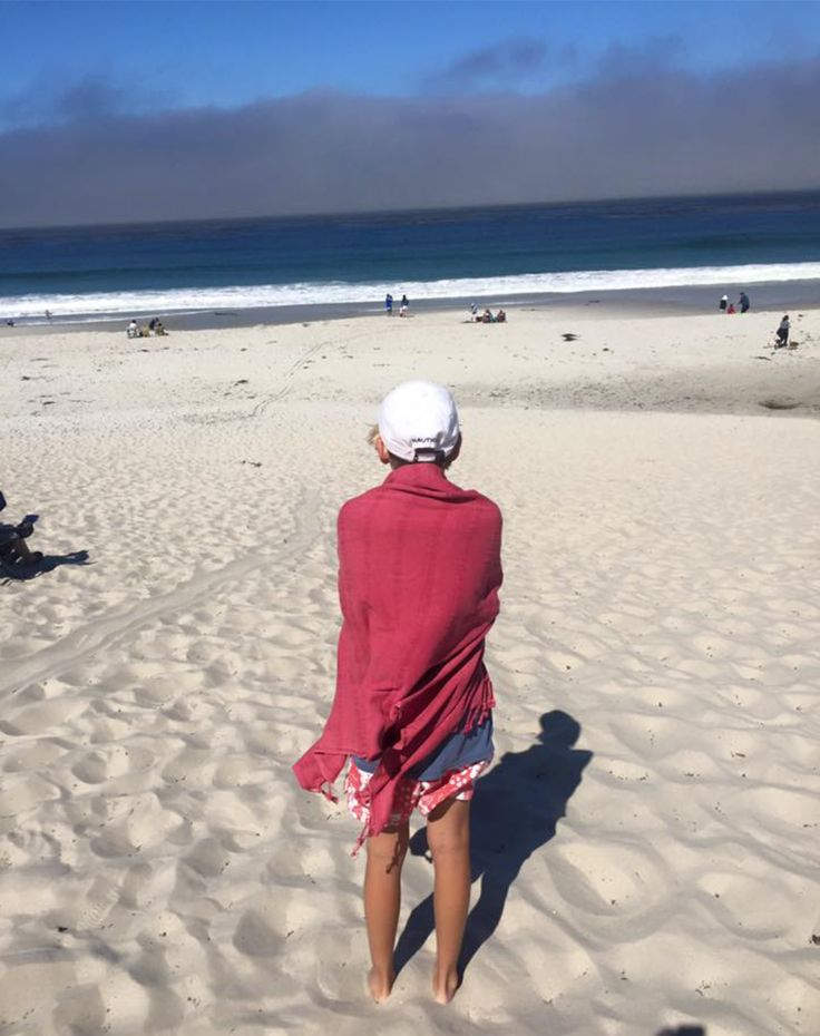Have you escaped to somewhere warm this Winter? Our new Stonewash towel is taking a break in California! www.knotty.com.au