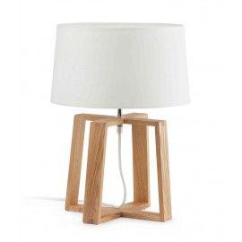 Επιτραπέζιο φωτιστικό BLISS ξύλινο καφέ Φ29