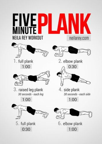 Five minute plank set... This is killer and one of my faves.