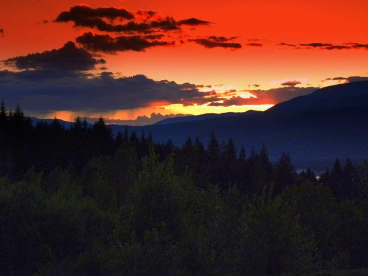Mountain Shadows Blind Bay On Shuswap Lake Bc Canada