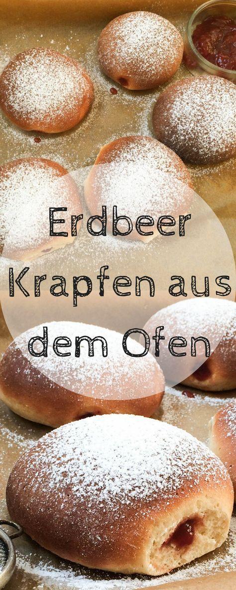 Einfache fettarme Krapfen aus dem Ofen ! Perfekt für alle die auf den Krapfengenuss nicht verzichten wollen! #krapfen