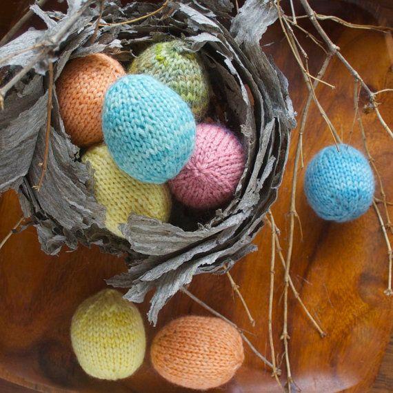 Knitting Pattern - Spring Easter Eggs - DIY Easter Decoration  - PDF download. $1.99, via Etsy.