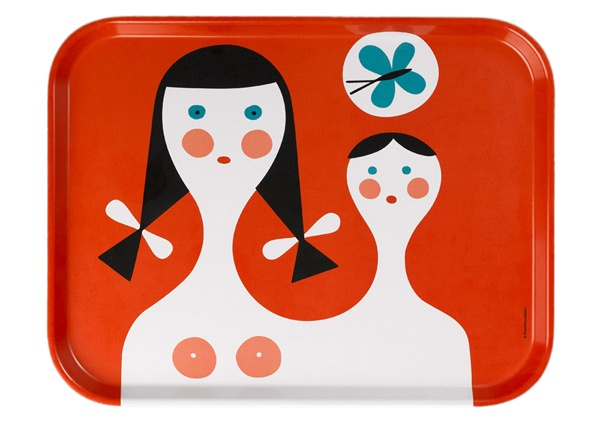 Alexander Girard via Modern KiddoVitra Classic, Mothers And Child, Child Trays, Servings Trays, Children, Alexander Girard, Classic Trays, Products, Design