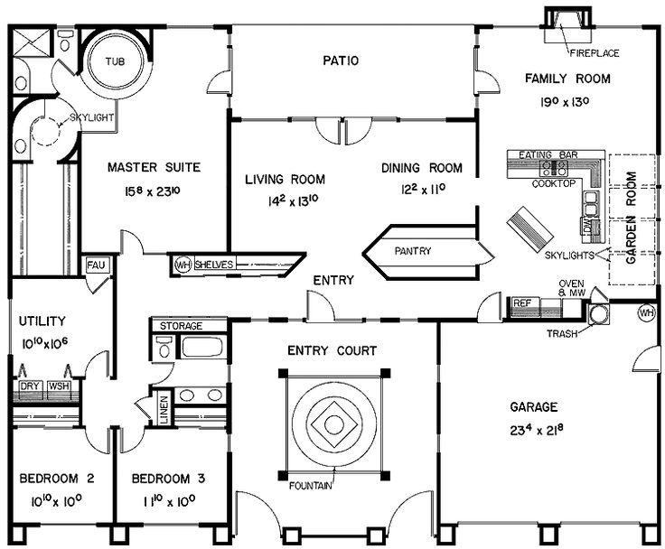 81 best images about u shape floor plan ideas on pinterest for H shaped ranch house plans