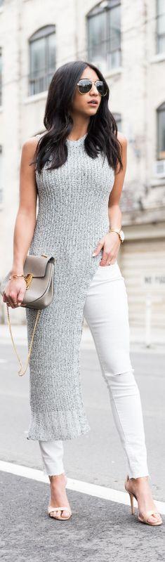 ASYMMETRICAL FEELINGS // Top: MOSSMAN ,Jeans: LEVIS,Heels: SCHUTZ,Bag: CHLOE //  @roressclothes closet ideas #women fashion outfit #clothing style apparel