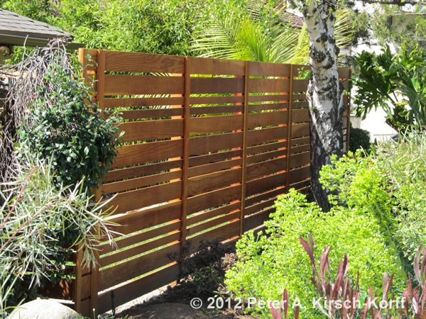 Garden Wood Fence : Urban Style Garden Wood Fence - high for privacy