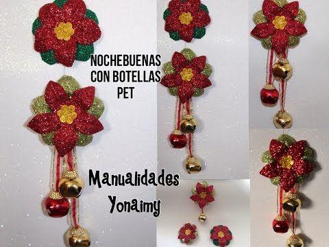 Navidad: Noche Buenas Hechas Con botellas De Agua Reciclada...