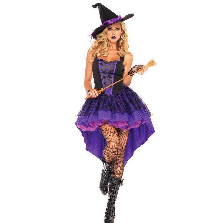 Broomstick Babe Adult Halloween Witch Costume Adult Women Fantasia feminina adulto Halloween Cosplay Disfraces Fancy Dress