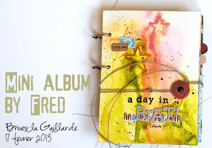 Gesso & mist mini album  workshop in Brives  The colored side of my life