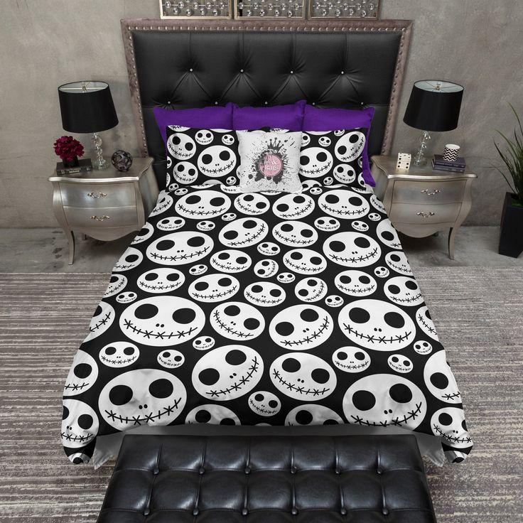 Jack Skellington Inspired Skull Heads Bedding Duvet