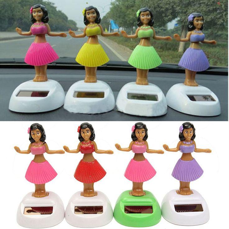新しい4ピース/セットソーラー踊るフラ女の子スイングへまおもちゃギフト用車の装飾ノベルティハッピーアンダーソーラー女の子おもちゃ
