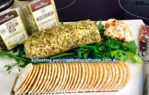 YIAH Tuscan Style Capsicum Pesto Cheese Log - Your Inspiration at Home - Recipes
