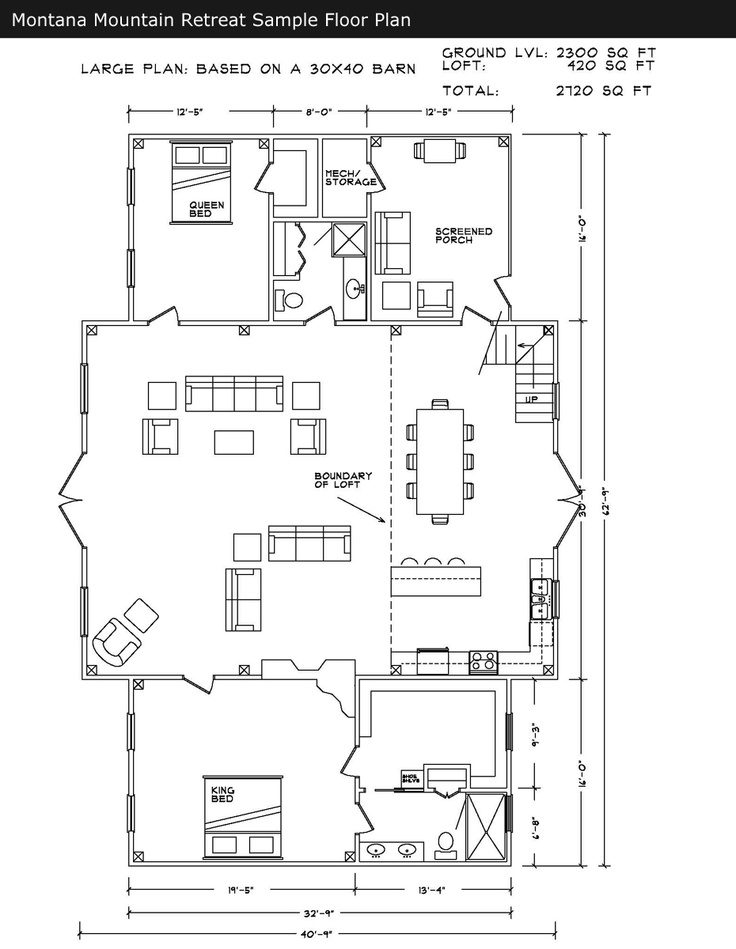 Sample floor plan for barn big plans pinterest for Barn layout plans