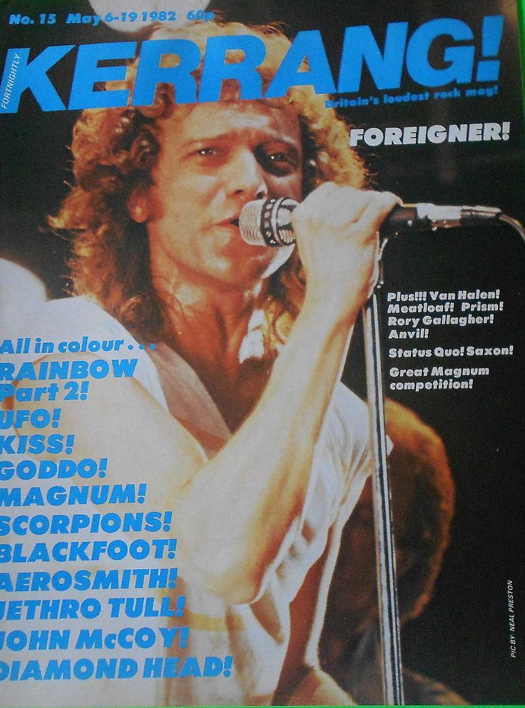 Lou Gramm, Foreigner, photo Neal Preston
