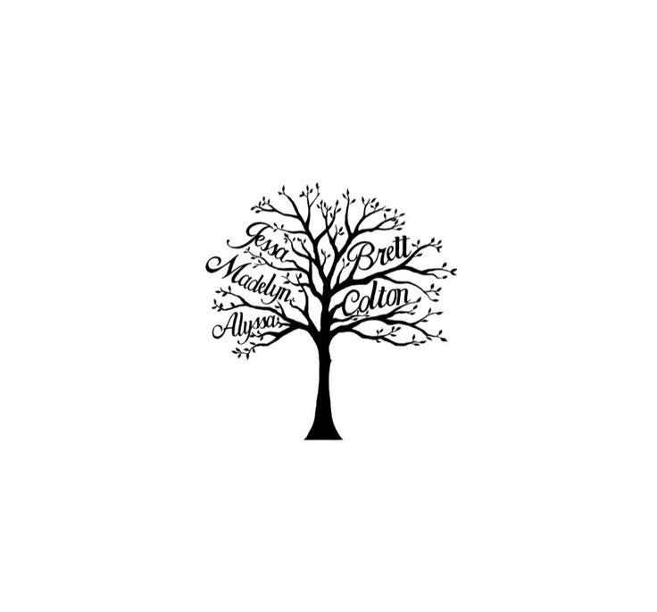 custom family tree with names temporary tattoo by pepperink