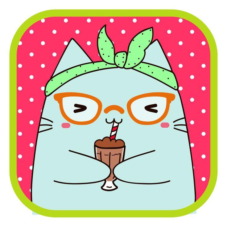 #LlaveNegra #pin-up #cat #milkshake #summer #IlustraciónDigital #Illustrator #Photoshop.