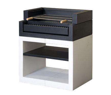 Movelar barbacoa de obra kitaway grill liso blanco y negro for Mueble horno leroy merlin